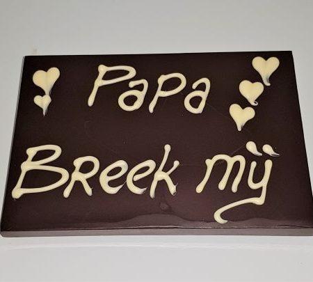 Breek mij chocolade voor papa