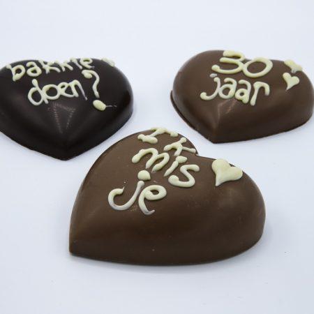 Chocolade hart praline