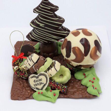Kerstchocolade stukje